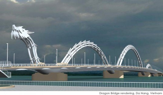 da nang, new bridge, dragon bridge, inauguration, LED, vietnam dragon bridge, han river, dragon shaped bridge,