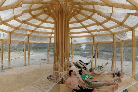Encore Heureux, pop-up, yurt, Chinoiserie, Bordeaux, botanic garden, temporary architecture, Architecture, Daylighting, Air quality