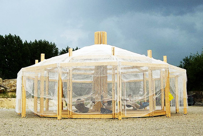 Chinoiserie: A Breezy Pop Up Shelter Inspired By Mongolian Yurts