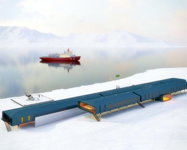 Comandante Ferraz Antarctic Station, Brazilian Antarctica, Estudio 41, green design, sustainable design, eco design, science, research, Antarctic, Keller Peninsula, prefabricated design, weather proof, clean energy, clean tech, solar power, wind power, thermal loss, conservation, wildlife