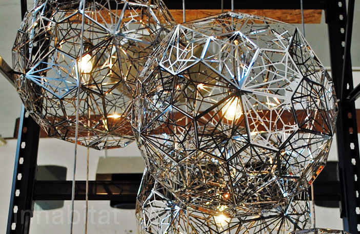 Tom Dixon Debuts Exciting New Designs at the 2013 Milan Furniture Fair Etch  Light Web Stainless Steel + Tom