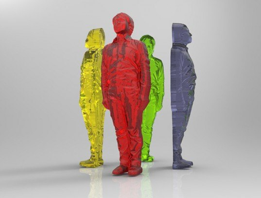 green design, eco design, sustainable design, 3d printed gummy humans, 3d printed food, Fabcafe, 3d scanner, 3d body scan