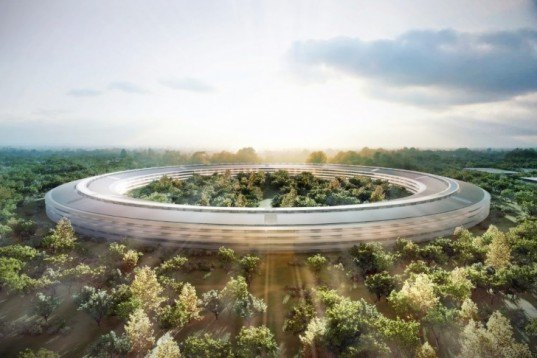 Apple Campus 2, Apple HQ Cupertino, Apple Spaceship Headquarters, Apple architecture, sustainable buildings, energy-efficient buildings, green masterplan Apple