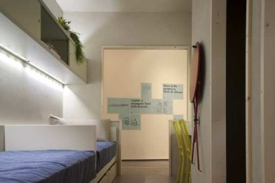 Freedom Room, Cibic workshop, micro housing, tiny homes, prison cell, micro apartment, milan furniture fair