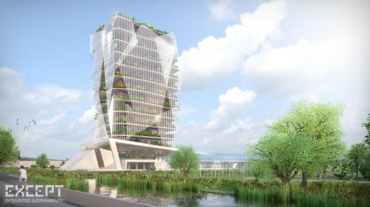 Hortus Celestia agriculture tower, vertical garden, agriculture tower, green tower, greenhouses, Netherlands greenhouses, urban agriculture, Except Netherlands, sustainable building