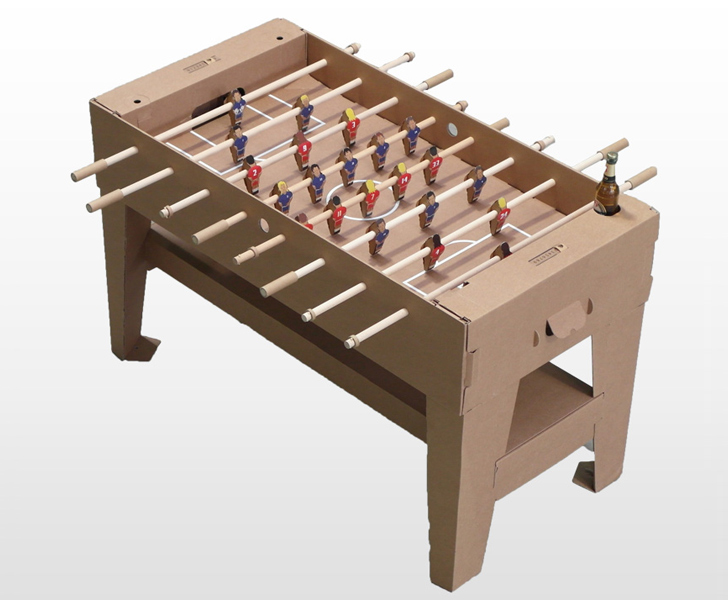 Kartoni The Worlds First Foosball Table Made From Sustainable - Highland games foosball table