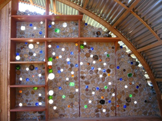 green design, eco design, sustainable design, Kristofer Nonn, Eco Cabanas, sustainable living for developing countries, recycled bottle wall, Venezuela shanty town