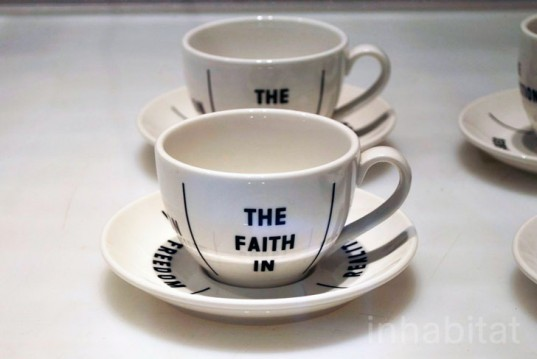 Milan Furniture Fair 2013, Droog Design, cup and saucer, porcelain, ink, product design, the faith in,