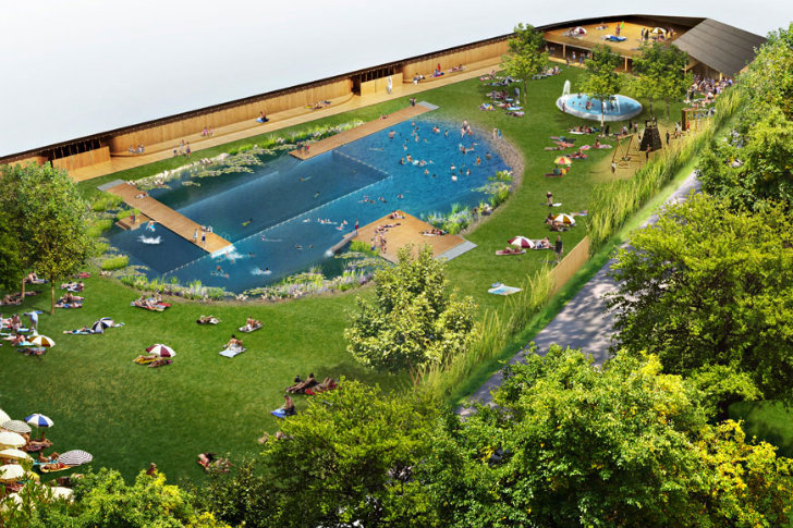 Herzog U0026 De Meuronu0027s Naturbad Riehen Natural Swimming Pool Breaks Ground In  Switzerland