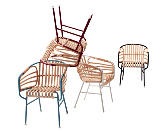 raphia chair, LucidiPevere, Casamania, green design, wicker chair, sustainable design, natural materials, green interiors, sustainabl