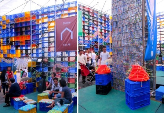 Solar Powered Green Revolution Pavilion Made From Recycled