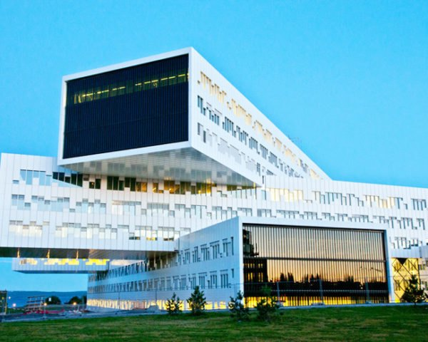 Statoil Offices, A-Lab, eco office, prefab office, high performance facade, energy efficient design, norway