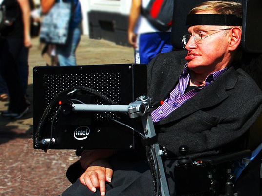 Stephen Hawking speech, Stephen Hawking visits Cedar Sinai, A Brief History of Time, A Brief History of Mine, Stephen Hawking 70th birthday, Stephen Hawking urges space exploration, global warming, stem cell research, ALS research, Lou Gehrig's disease research, space exploration