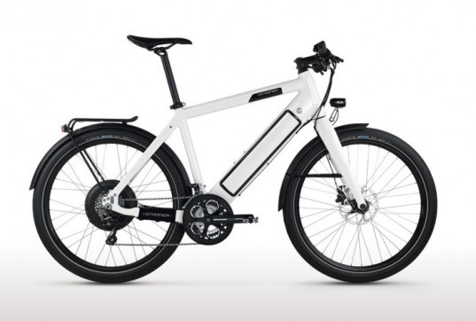 Stromer Electric Bike, Stromer ST1 bike. battery-powered bikes, green transportation, cycling, bicycle design, electric bike design, bike charger, iPod Nano bike