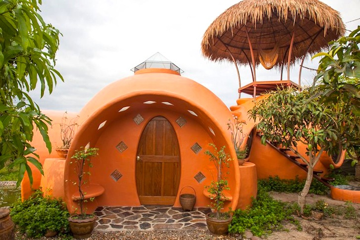 Magical Dome House In Remote Thailand Constructed In Six Weeks For Just  $8000! Part 54