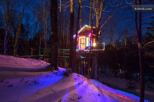 Fern Forest Treehouse, AirBnB, treehouse, treetop, arboreal, tiny houses, small spaces, travel, eco-tourism, lincoln, vermonth, green design, sustainable design, eco-design