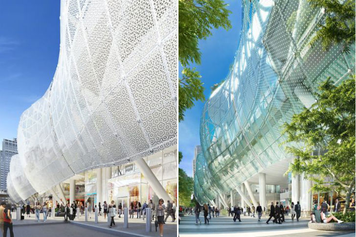 San Francisco S New Transbay Transit Center Sheds Glass