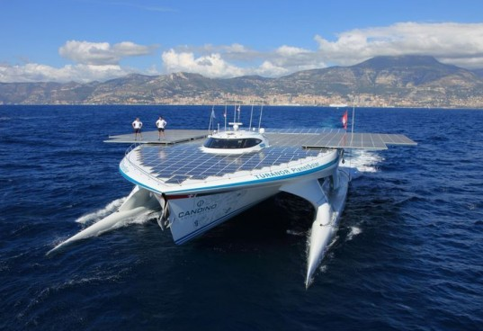 PlanetSolar, Turanor, PlanetSolar's Tûranor, solar powered boat, eco-vessel, university of geneva, planetsolar deepwater, gulf stream, climate change, solar powered vessel, solar power, solar energy, biobox