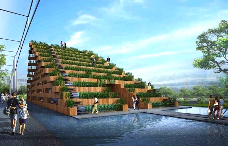 Pavilion of Dream Terraces: H&P Architects Unveil Rice Paddy-Covered  Pavilion for Viet Nam's Expo 2015 | Inhabitat - Green Design, Innovation,  Architecture, ...