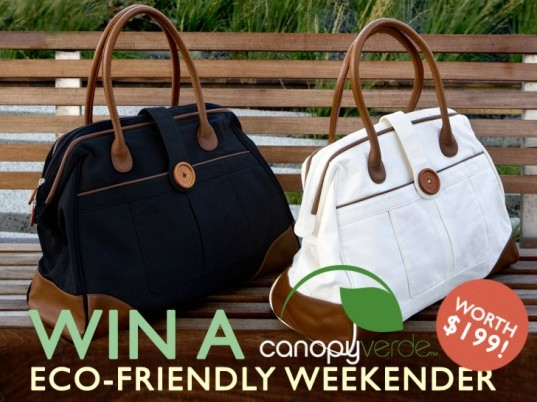 Cassia weekender bag, competition, giveaway, sustainable design, eco-design, ecouterr