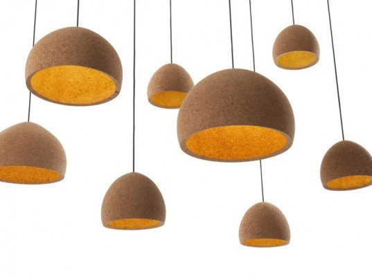 Benjamin Hubert , Cork light, cork lamp, cork lighting, Float Light, float lamp, cork designs, cork furniture