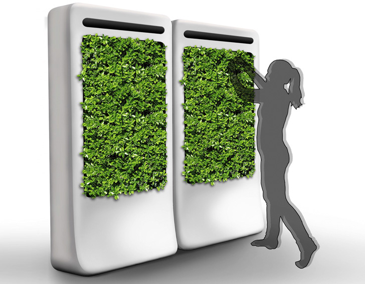 Freshwall Indoor Vertical Garden Purifies The Air While Growing Fresh Veggies