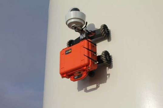 hr-mp20, helical robotics, wind turbine, inspection, climbing, wireless