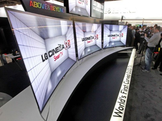 lg, oled tv, curved screen, ea9800, ces 2013