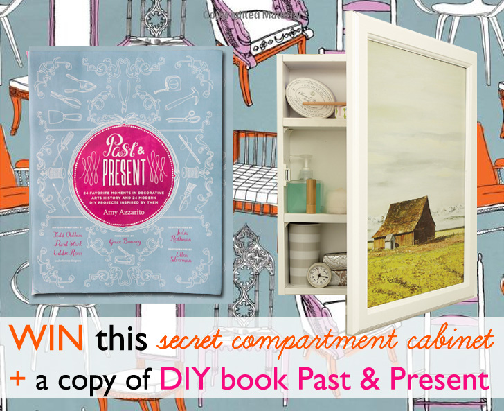 GIVEAWAY Win This Fun Secret Compartment Cabinet A Copy Of DIY Book Past And Present