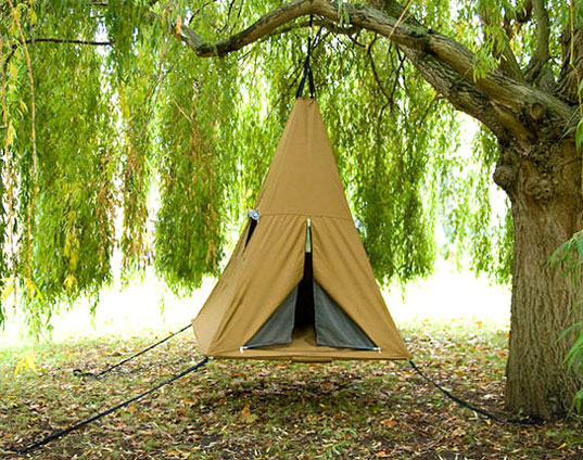 Treepee, camping, kids activities, kids camping, treehouse, aerial tent
