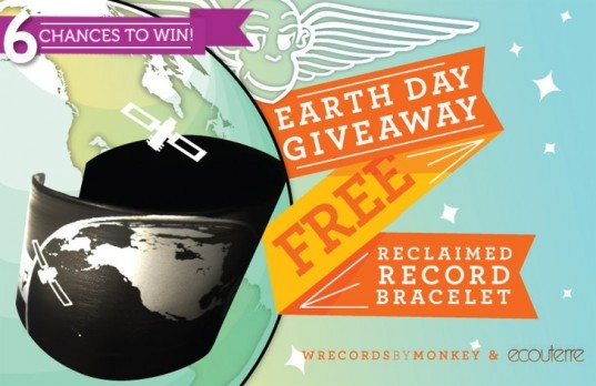 Earth Day, competition, Wrecords by Monkey, accessories, eco-fashion, green design, sustainable design, eco design, recycled materials, green fashion, cuffs, space, earth