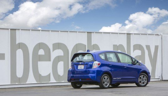 Honda, Honda Fit, Honda Fit EV, electric vehicle, Honda EV, green car, green transportation, electric motor, lithium-ion battery, Nissan Leaf, Fiat 500e, Chevy Spark EV