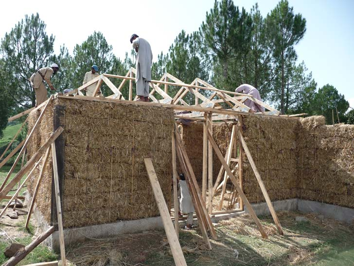 PAKSBAB Straw Bale Earthquake Resistant Home - designed for Pakistan Earthquake relief