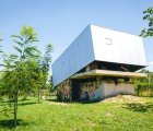 Windowless Caja Oscura Home Opens up Like a Giant Pac-man in Rural Paraguay