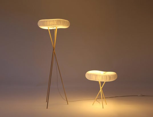 Molo design, Stephanie Forsythe Molo, Todd MacAllen Molo, LED SoftLight lamps, LED  lighting, energy-efficient lighting, LED lamps, textile materials, honeycomb-like design, green materials, recyclable materials, LED lights, ICFF International Contemporary Furniture Fair