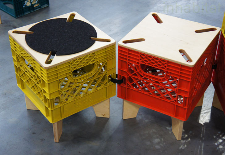 Fabulous Combo Collab's XTool Upcycled Milk Crate Seating & Storage  CS28