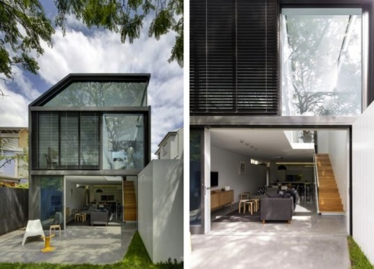 sustainable renovation, green renovation in Sydney, Christopher Polly, skylights, daylighting, natural light, green design, sustainable design, eco-design, Cosgriff House in Australia, natural ventilation, light wells,