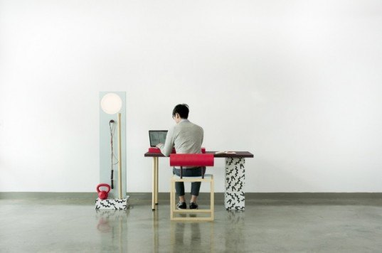 green design, eco design, sustainable design, Darryl Agawin, home gym, No! Sweat, exercise desk