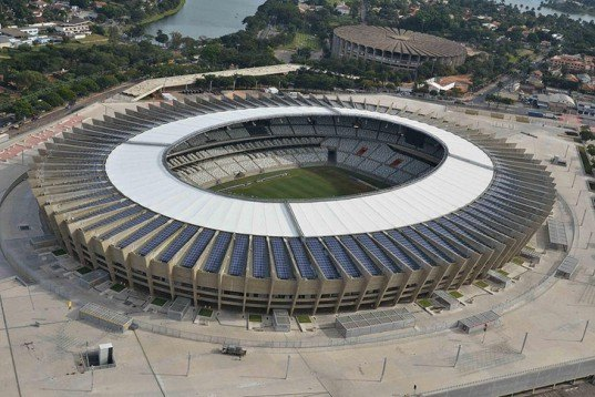 green design, eco design, sustainable design, 2014 FIFA World Cup, solar powered stadium, stadium solar array, Estadio Governador Magalhaes Pinto, Minierao