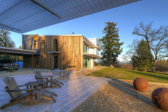 Fern Ridge Lake Residence, Studio-E Architecture, passive house, oregon, eco house, recycled materials, reclaimed materials