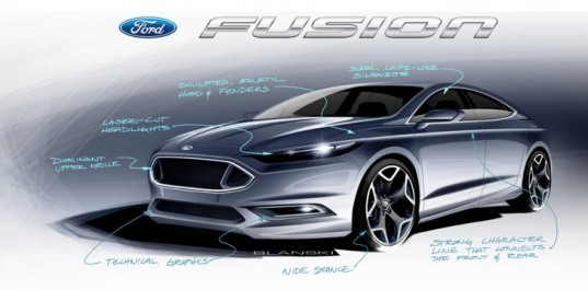 Ford Fusion Sketch, Inhabitat interview, ford motors, ford design, ford designer, ford motors, ford fusion energi, ford plug in, ford hybrid, ford electric, fusion energi electric car