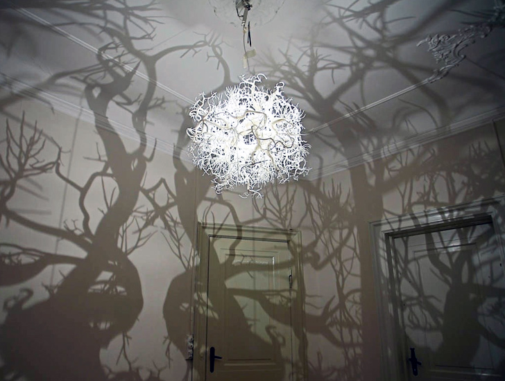 into lighting. Amazing Chandelier Transforms Any Room Into A Fairytale Forest Lighting M