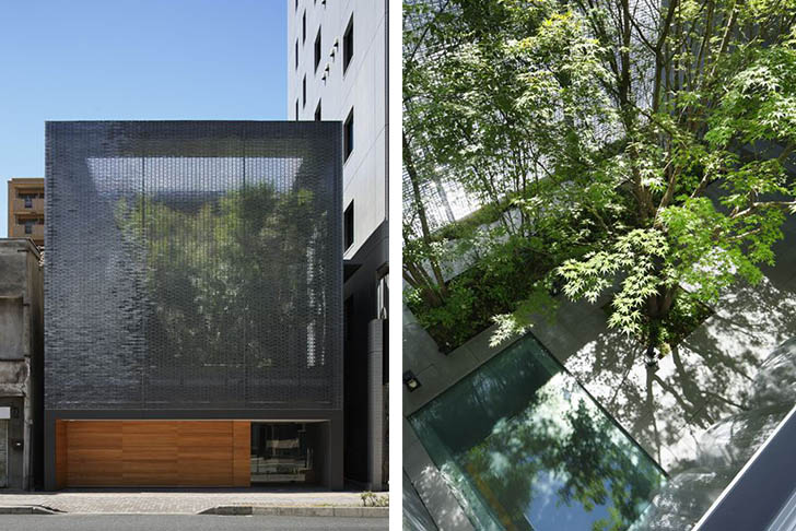 Japans Optical Glass House Hides A Secret Garden Behind its