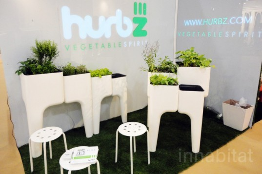 ICFF, green design, eco design, sustainable design, Hurbz, Hurbz Vegetable Spirit, KiGA kitchen garden, modular garden, urban gardening