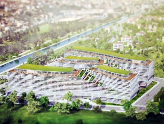 Premier Green Roof Office, JDS Architects, kagithane gardens, istanbul, green roof, eco office, turkey