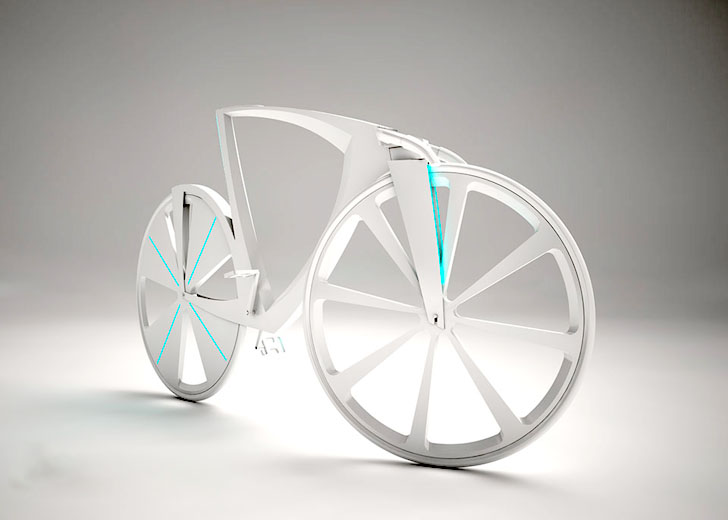 High-Tech Levitation Bike Generates Electricity and Acts as a Mobile Hot-Spot