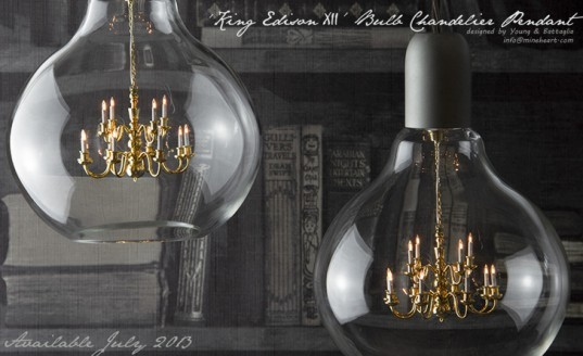 green design, eco design, sustainable design, Mineheart, mini chandelier, King Edison XII, small living, tiny living
