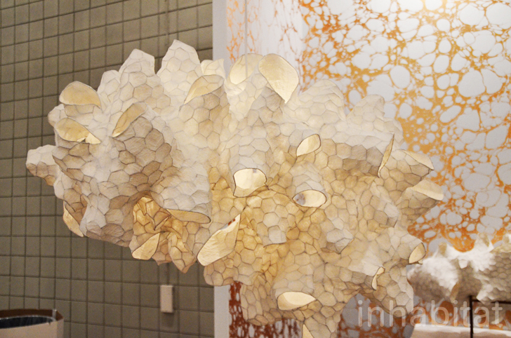 Patrick Weder S Gorgeous Paper Pulp Lamps Glow At Icff