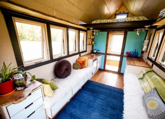 Aaron Maret, Pocket Shelter, tiny home, interior view