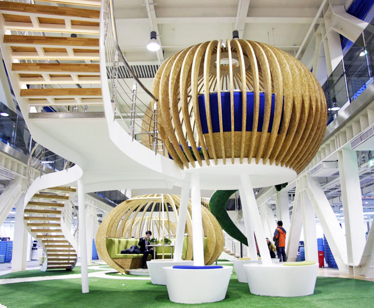 Qihoo 360u0027s Office Has Floating Cloud Like Meeting Rooms And Spiraling  Slides! | Inhabitat   Green Design, Innovation, Architecture, Green Building